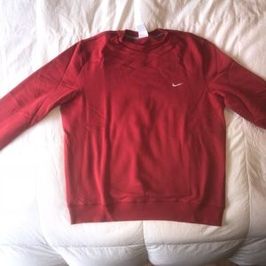 Red nike crew neck sweater